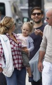 Jennifer Meyer and Toby Maguire out with their new baby and daughter Ruby