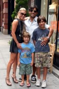 Kelly ripa and Mark Consuelos with sons Michael and Joaquin