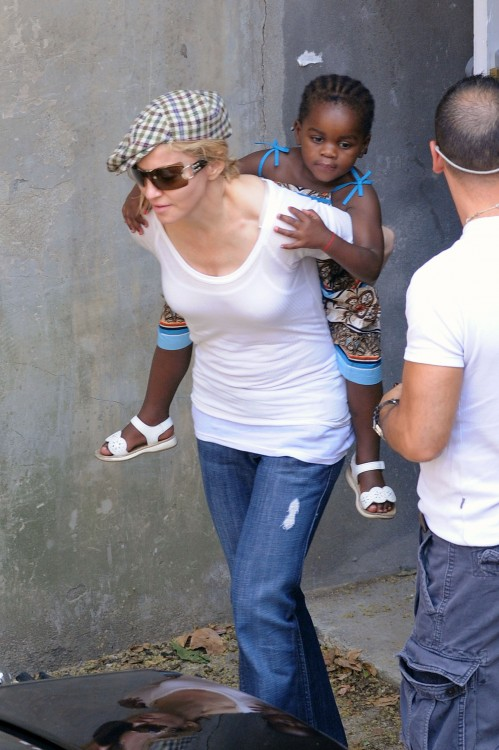 Madonna And daughter Mercy leave Kabala Center in NYC