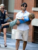 Kelly Ripa and Mark Consuelos have lunch at Da Silvano in NYC with their two sons