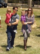 Mark Wahlberg and Rhea Durham with Michael and Ella at A Time for Heroes Celebrity Picnic