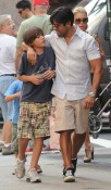 Kelly Ripa and Mark Consuelos out and about in Soho with their two sons