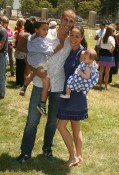 Nigel Barker, wife Cristen Chin, son Jack and daughter Jasmine at A Time for Heroes Celebrity Picnic