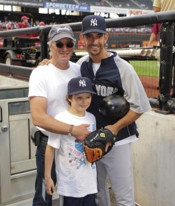 Richard Gere and son Homer James Cheer On The NY Yankees From The Dugout