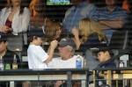 Richard Gere and son Homer James Cheer On The Yankees From The Dugout
