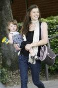 Milla Jovovich  and daughter Ever
