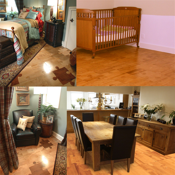 cool nursery idea puzzle hardwood floors - Puzzle Wood Flooring