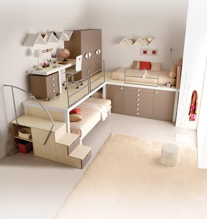 Cool Bedroom Ideas: Tiramolla Loft Bedrooms from Tumidei
