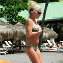Kendra Bares Her Belly In St. Lucia