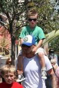 David Shops With His Boys At The Grove