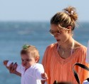 Alessandra and Her Family Hit The Beach In Malibu