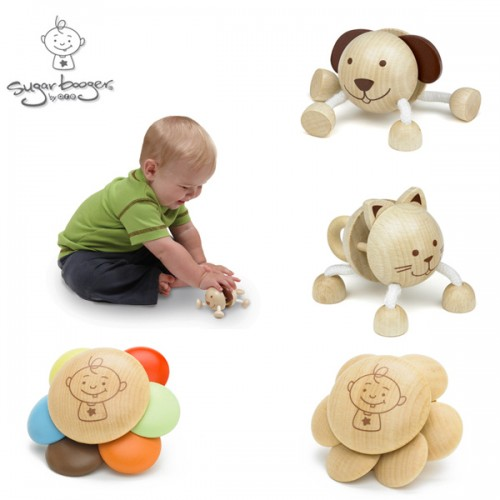 SugarBooger Wooden Rattles: Simple But Clever