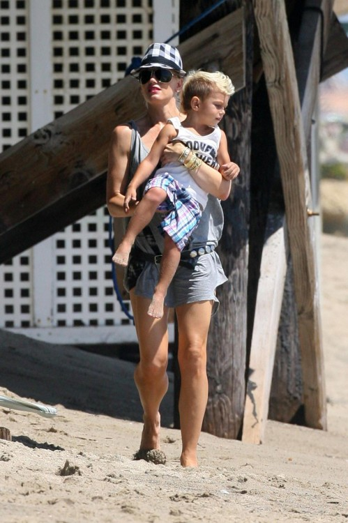 Gwen Stefani with son Kingston