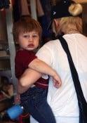Christina Augilera shops with son Max Bratman