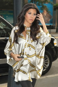 Kourtney Kardashian out in NYC