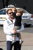 Russell Crowe out with son Tennyson