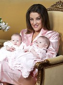 Lisa Marie Presley with her twins