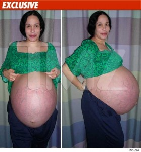 Nadya Suleman While Pregnant With Octuplets