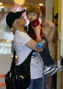 Christina Aguilera and son Max Bratman