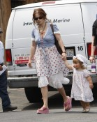 A Clown Faced Nell Burton Shops With Mommy In Malibu