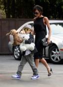 Victoria and Romeo Beckham
