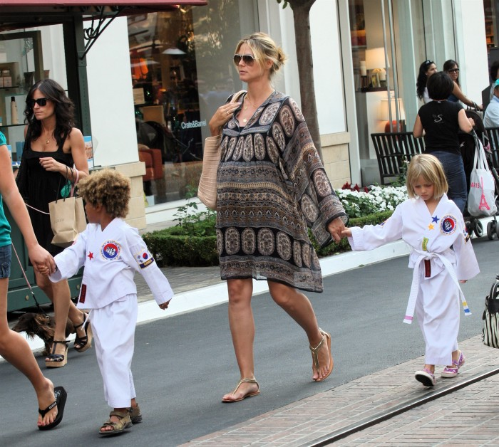 heidi klum kids 2009. Heidi Klum and Her Karate Kids