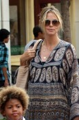 Heidi Klum and Her Karate Kids Shop At The Grove