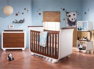 Modern Nursery: Tulip's Panda Collection