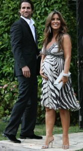 Jillian Barberie Shows Off Her Growing Bump At Khloe Kardashian's Wedding