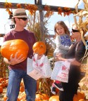 Hugh Jackman Goes Pumpkin Picking With His Family