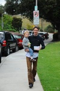 Daniel Giersch and Son Hermes in Beverly Hills