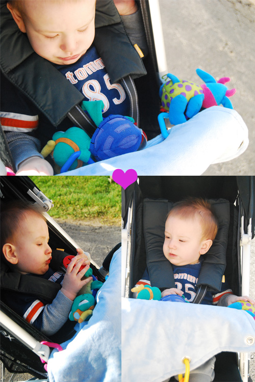 Lil' Tag Alongs Keep Baby Occupied and Warm At The Same Time!