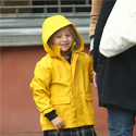 Matilda and Michelle: Rainy Stroll To School