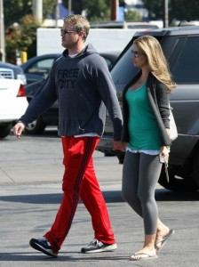 Eric Dane and a pregnant Rebecca Gayheart work out in LA