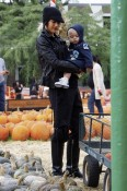 Gwen Stefani and Zuma Rossdale visit Mr. Bones Pumpkin Patch