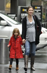 An Expectant Rhea Wahlberg Shops in NYC With Daughter Ella