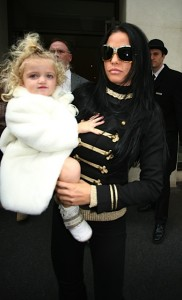 Katie Price and daughter Princess Tiaamii