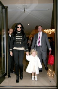 Katie Price and daughter Princess Tiaamii in London
