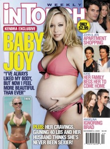 Kendra Bares Her Bump on The Cover of InTouch Magazine