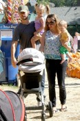 Tobey Maguire and wife Jennifer Meyer with kids Ruby & Otis at Mr