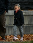 Violet Affleck out in Boston for a stroll