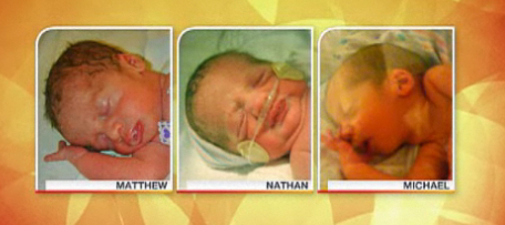 Identical Triplets Born at 33 weeks, on Third Anniversary