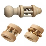 Heirloom Quality Wooden Rattles make Perfect Holiday Gifts for Baby