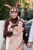 Alyson Hannigan and Satyana Denisof Kangaroo & Baby for halloween