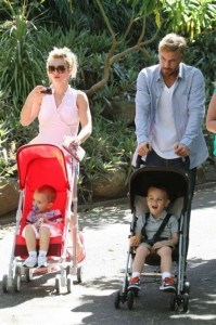 Britney Spears and Jason Trawick in Sydney with Jayden and Sean P