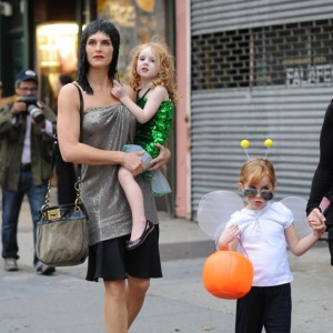 Brooke Shields and daughter Rowan & Grier out for halloween