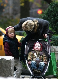 Cate Blanchett with sons  Dashiell and Ignatius in NYC