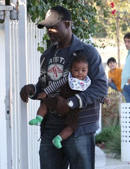 Djimon Hounsou with son Kenzo