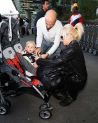 Gwen Stefani with Zuma Rossdale at the airport