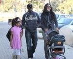 Kimora Lee Simmons and Djimon Hounsou with son Kenzo and daughter Ming & Aoki